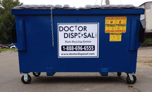 Commercial dumpster service in Brockton, MA