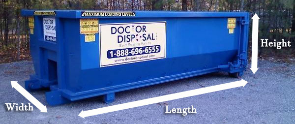 Doctor Disposal dumpster sizes in Brockton MA