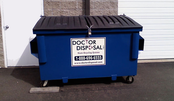 front-load commercial dumpsters from Doctor Disposal